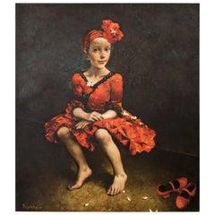 "Sergei Rimoshevski ""Carmen"" Oil on Canvas"
