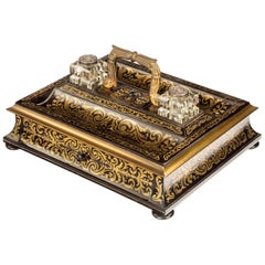 Very Fine Quality 19th Century Boulle Desk Set