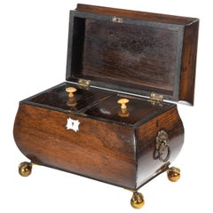 George III Period Mahogany Bombay Caddy