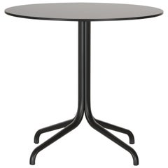 Vitra Round Belleville Bistro Table in Dark Oak by Ronan & Erwan Bouroullec