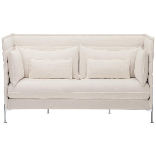 Vitra Alcove 2-Seat Sofa in Ivory Laser by Ronan & Erwan Bouroullec