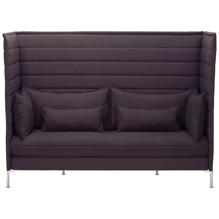 Vitra Alcove Highback 2-Seater Sofa in Marron Volo by Ronan & Erwan Bouroullec For Sale