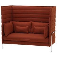 Vitra Alkoven 2-Sitzer-Sofa mit Hoher Lehne in Backstein von Ronan & Erwan Bouroullec