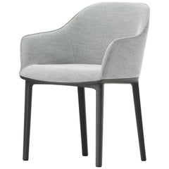 Vitra Soft Shell Chair in Nero & Cream White Plano by Ronan & Erwan Bouroullec