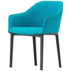 Vitra Soft Shell Chair in Turquoise & Aqua Moss by Ronan & Erwan Bouroullec