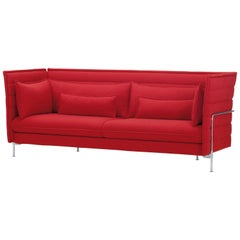 Vitra Alcove 3-Seater Sofa in Red Laser by Ronan & Erwan Bouroullec