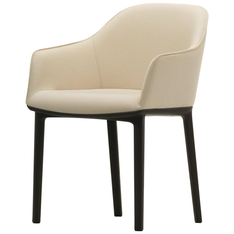 Vitra Soft Shell Chair in Ivory Laser by Ronan & Erwan Bouroullec For Sale