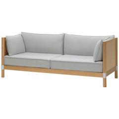 Vitra Cyl Wood Sofa in Cream & Sierra Grey Plano by Ronan & Erwan Bouroullec