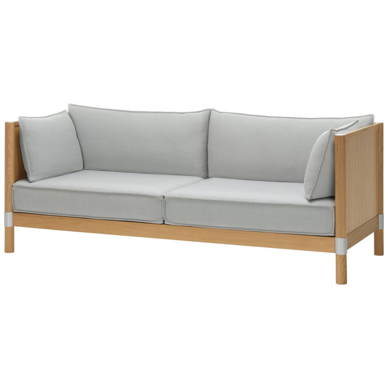 Vitra Cyl Wood Sofa In Cream And Sierra Grey Plano By Ronan And