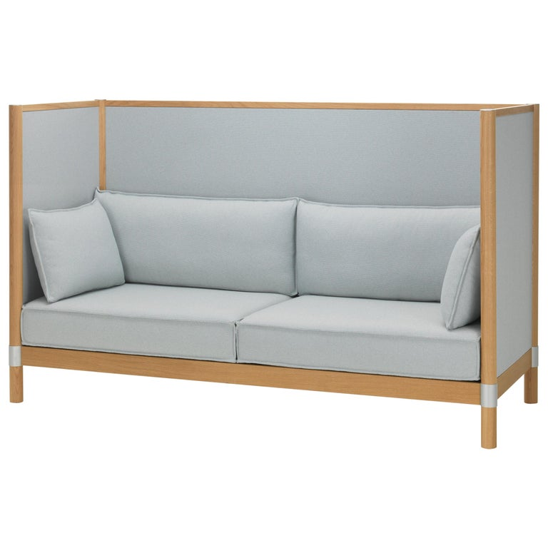 Vitra Cyl Highback Fabric Sofa in Blue & Ivory Laser by Ronan & Erwan Bouroullec For Sale