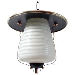 Italian Midcentury Lantern Pendant, Ceiling Light, 1950s