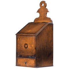 George III Period Oak and Mahogany Salt Box