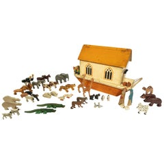 Early 20th Century 'War Relief Toy Works' Noah's Ark