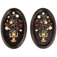Attractive Pair of Late 19th Century Pietra Dura Pictures