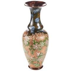 Große antike Doulton Lambeth Kellerasseln Patent Vase