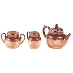 Victorian Miniature Doulton 3-Piece Tea Set