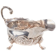 Victorian Solid Silver Sauce-Boat