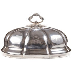 Antique Silver Plated Meat Dome, circa 1860