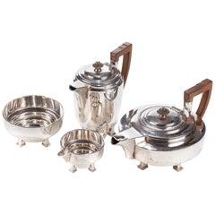 James Dixon & Sons Art Deco Silber vergoldet Tee-Set