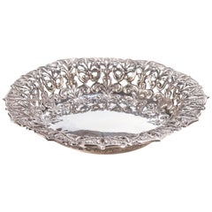 Edwardian Circular Pierced Sided Silver Bowl