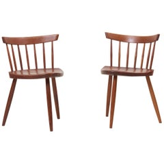 Pair of George Nakashima Studio Mira Nakashima Mira Chair in Walnut
