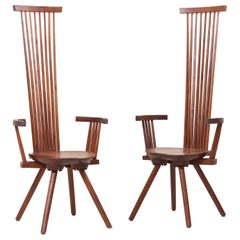 Pair of Jeffrey Greene Studio High-Back Armchairs, US, 1970s