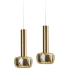 Pair of  Pendant Lamps in Brass, by Vilhelm Lauritzen for Louis Poulsen