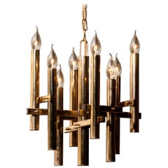 Brass Chandelier by Sciolari, 1960s