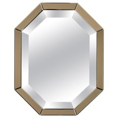 All-Glass Italian Octagonal Mirror