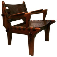Leather Angel Pazmino 's Armchair for Muebles De Estilo circa 1960 Ecuador