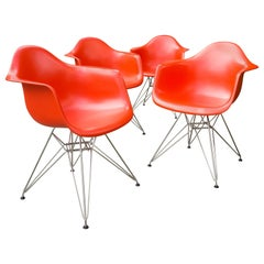 Eames DAR Chairs in Poppy Red, Vitra 2007