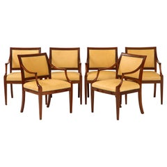 Set of Four Danish Mahogany Open Armchairs by Frits Henningsen, circa 1940s