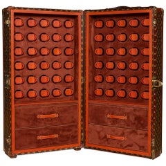 Early 20th Century Louis Vuitton Trunk with Customized Interior for 60 Watches