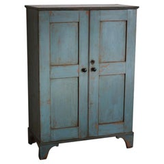 18th Century Painted House Keepers Cupboard in Original Paint