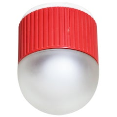 Bulbo Sconce and Flush Mount in Red by Barbieri & Marianelli for Tronconi