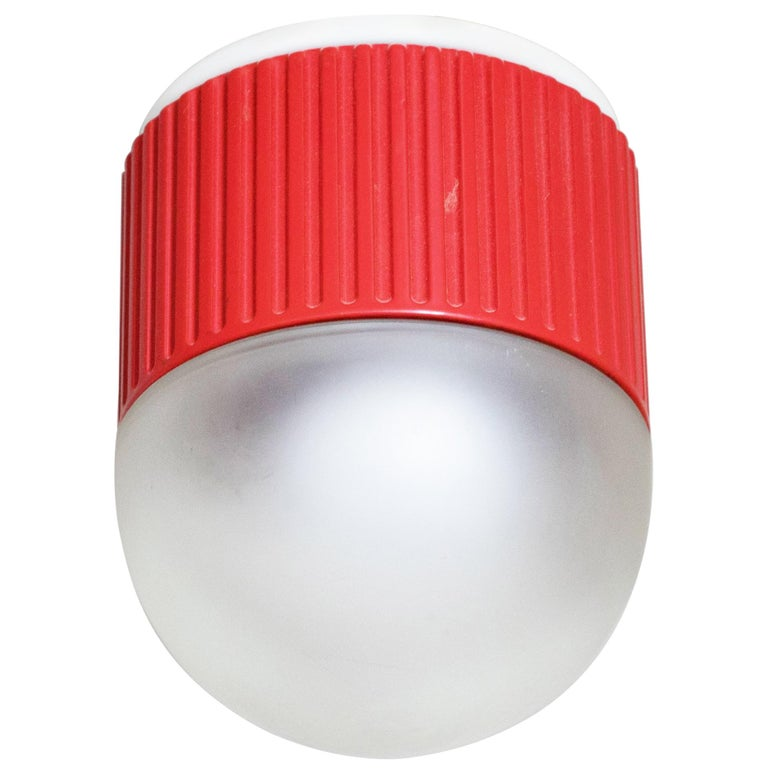Bulbo Sconce and Flush Mount in Red by Barbieri & Marianelli for Tronconi For Sale