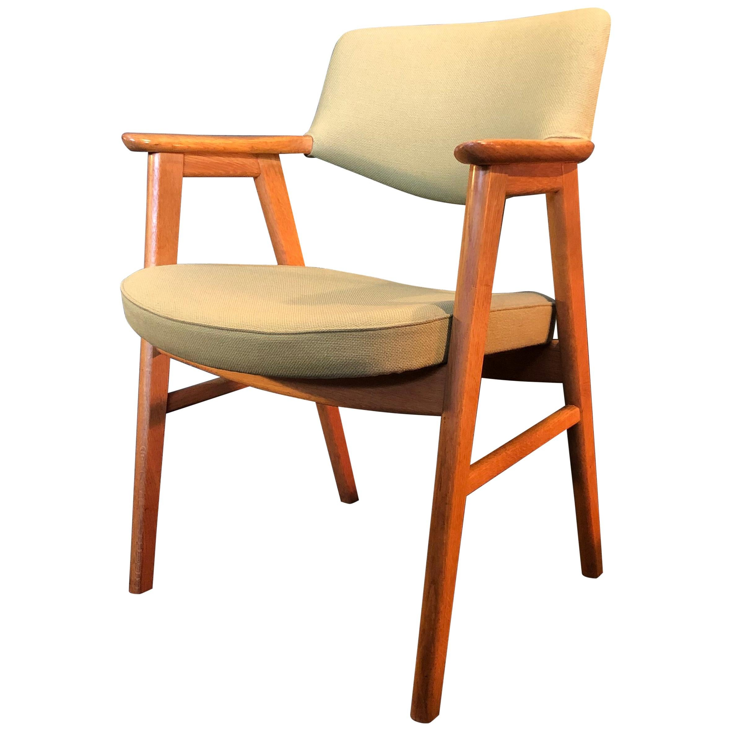 sc 1 st  1stDibs & Erik Kirkegaard Oak Desk Chair at 1stdibs
