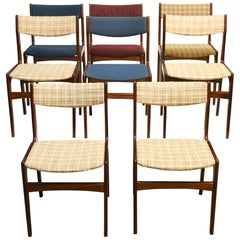 Set of Eight Rosewood Dining Chairs by Erik Buch for Oddense Maskinsinedkeri