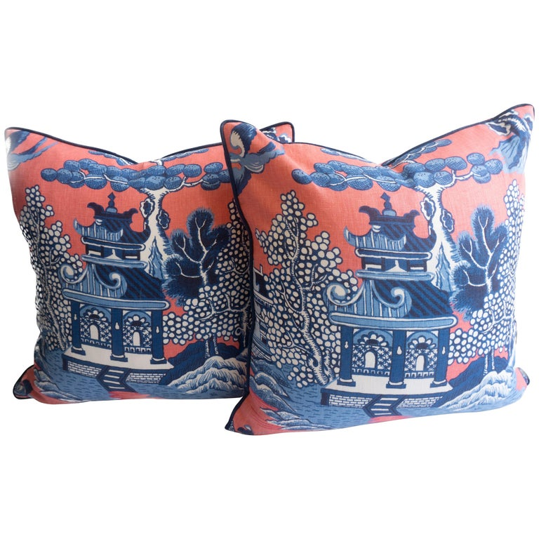 Chinoiserie Throw Pillows For Sale