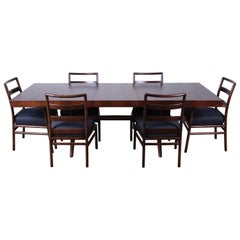 Robsjohn Gibbings for Widdicomb Mid-Century Modern Dining Set, Newly Restored