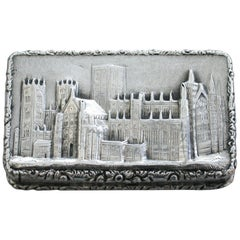 Victorian Silver Castle-Top Vinaigrette, York Minster