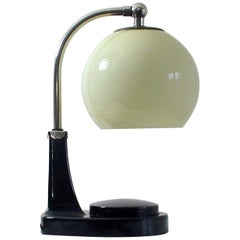 German Bauhaus Marianne Brandt Bakelite and Opal Touch Light Table Desk Lamp