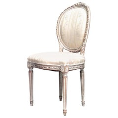 20th Century French Louis XVI Style Bleached Side Chairs