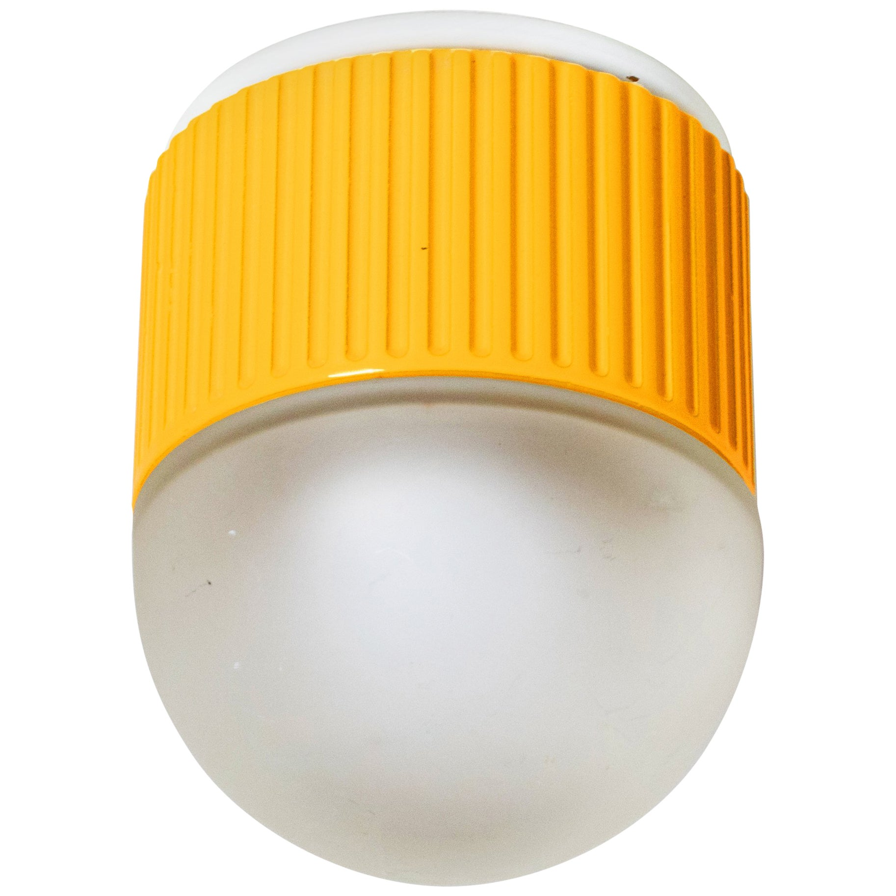 Bulbo Sconce and Flush Mount in Yellow by Barbieri & Marianelli for Tronconi