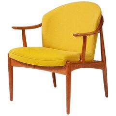 Johannes Andersen Teak Lounge Chair, circa 1960s