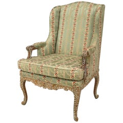 French Regence Style Open Armchair