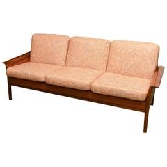 Skandinavische Dreisitzer-Sofa, 1960er Jahre