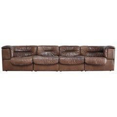 De Sede Modul Vintage Leather Sofa brown