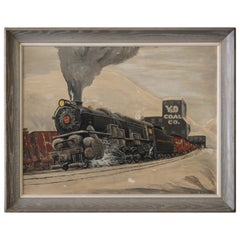 Train Painting from the 1940s