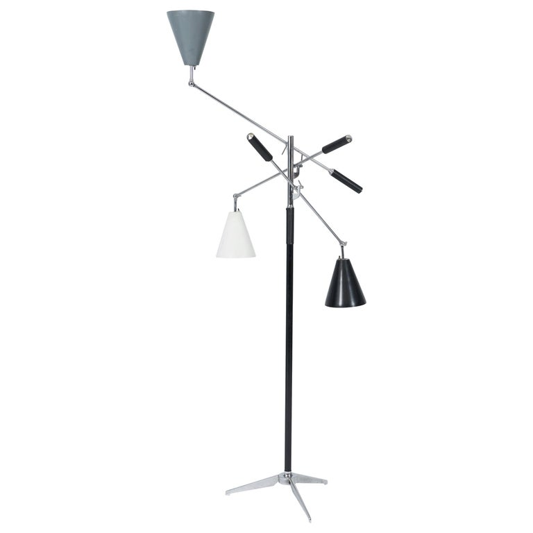 Triennale Floor Lamp, Angelo Lelli for Arredoluce For Sale